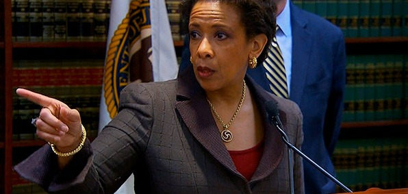 Loretta Lynch's Justice Department will place new emphasis on home-grown violent extremism committed by so-called 'right wing' attackers.