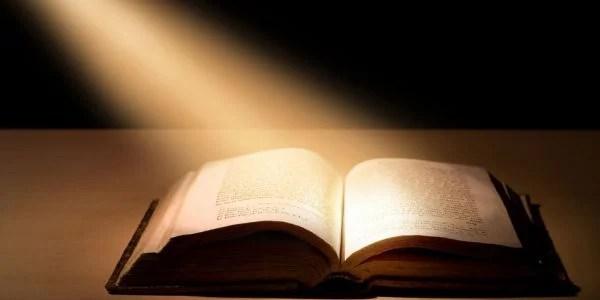 Bible lit up
