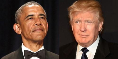 Former President Barack Obama and President Donald Trump