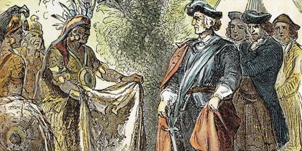 James Oglethorpe making treaty with Indians