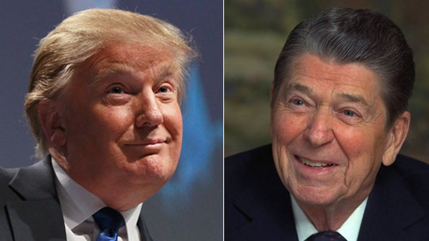 Image result for image of trump and reagan