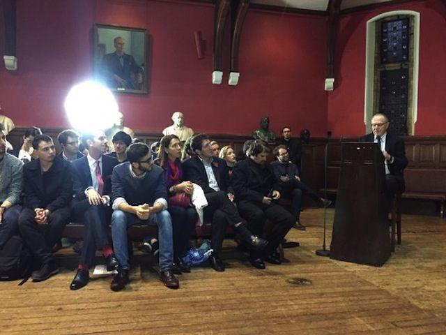 Harvard Law Professor Alan Dershowitz debates BDS at Oxford University, England in 2015