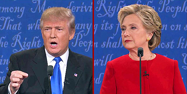 Image result for Donald Trump vs Hillary Clinton first debate