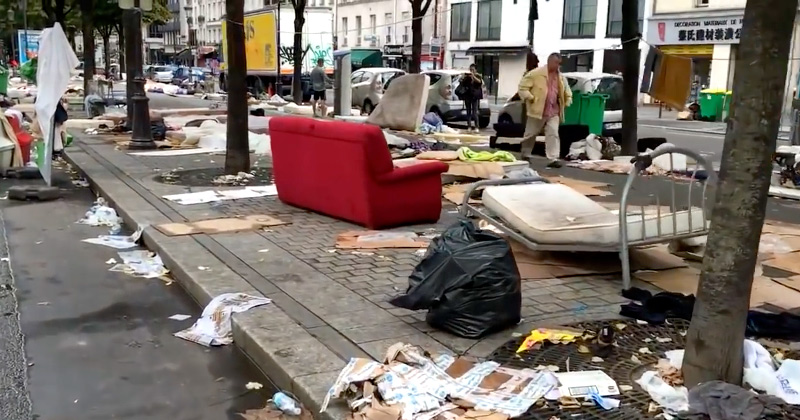 Image result for Photographs of the refugees trashing the streets of Paris