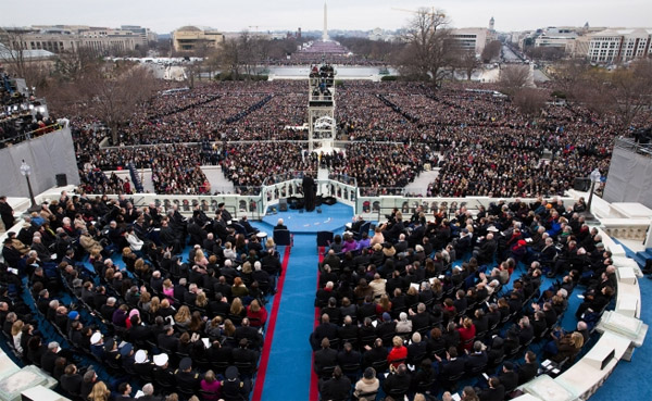 President Barack Obama delivers his inaugural address at the U.S. Capitol in Washington, D.C., Jan. 21, 2013. (Official White House Photo by Chuck Kennedy)
