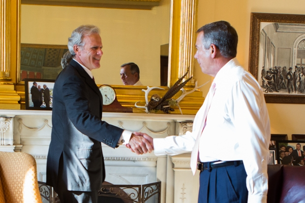 Michael Oren with former House Speaker John Boehner