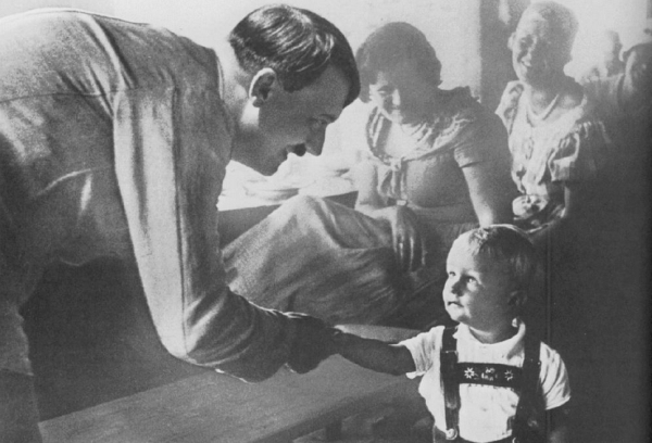 Hitler welcomes a child