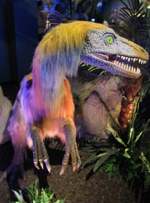 Furry dinosaur