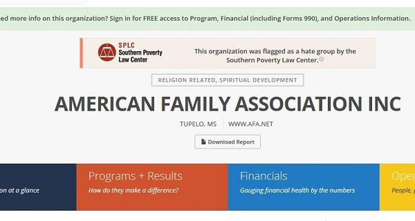 How Guidestar had Christian groups labeled