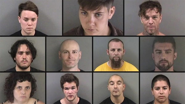 Row 1 (L-R) Brittany Mooreman, Emily Gillespie, Harlan Paknau. Row 2 (L-R) James Dominic, Joshua Phillips, Kristopher Wyrick, Levi Smith. Row 3 (L-R) Rachael Lea Moore, Sean Hines, Seth Vasquez, Yesenia Mendez. (Phots/Alameda County Sheriff)