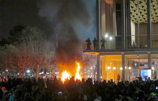 BAMN and Antifa riot at UC Berkeley (Photo: Twitter)