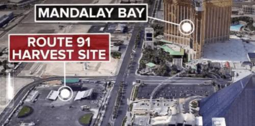 Las Vegas strip shooting after a gunman opens fire near Mandalay Bay casino, Oct 1, 2017.