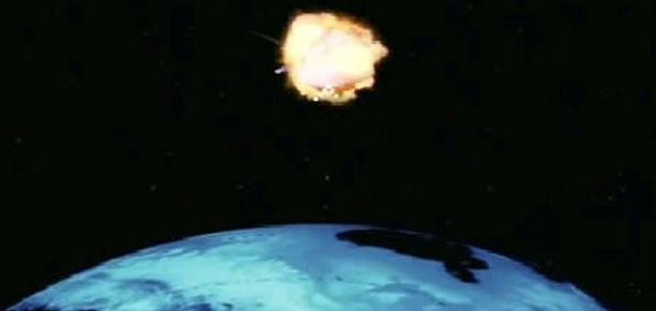 High-altitude EMP blast