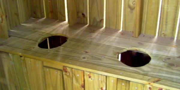 Outhouse seats