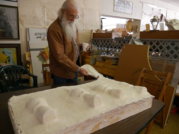 Joe Taylor at the Mt. Blanco Fossil Museum. (Image Max McNabb)