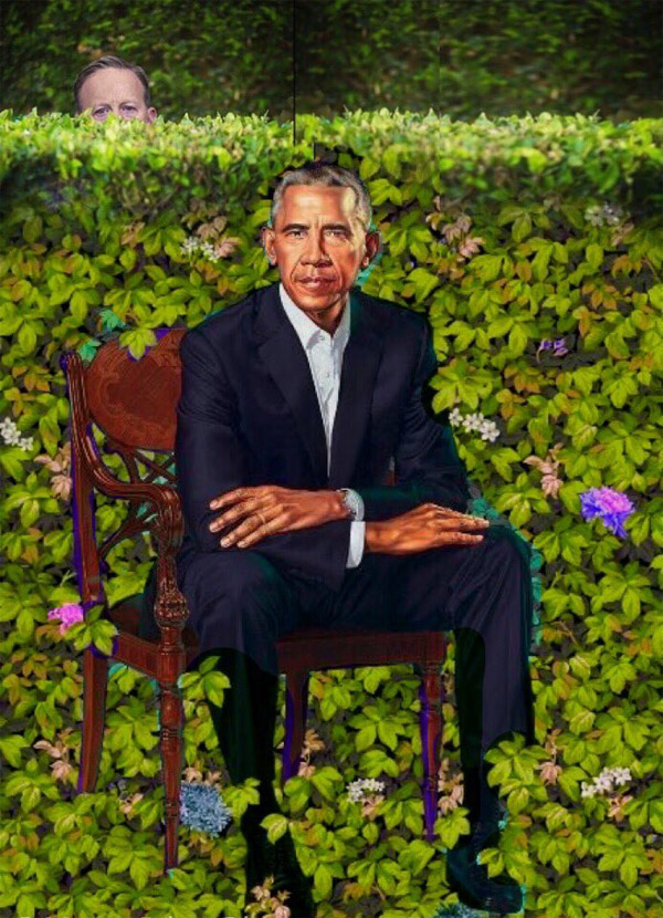 Barack Obama Presidential Painting