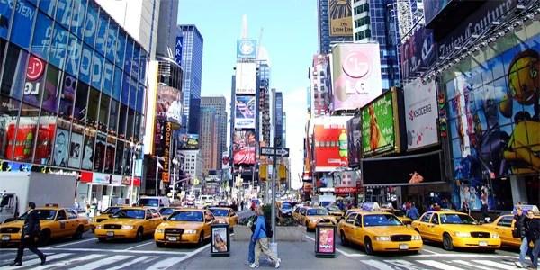 Times Square in New York City (Photo: Flickr/Sam Valadi)