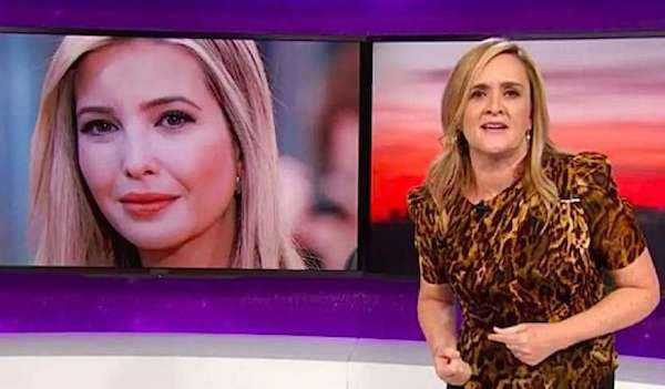 """Comedian Samantha Bee, right, insults Ivanka Trump on """"Full Frontal"""" on TBS on Wednesday, May 30, 2018 (Screenshot)"""