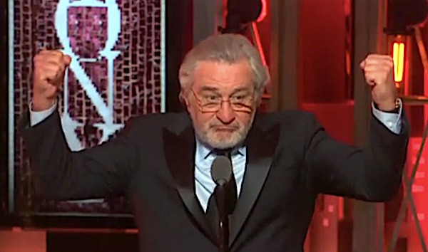 Robert De Niro at the 2018 Tony Awards (Video screenshot)