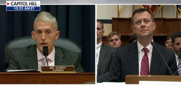 Rep. Trey Gowdy, R-S.C. questions FBI agent Peter Strzok at a hearing July 12, 2018 (Fox News screenshot)