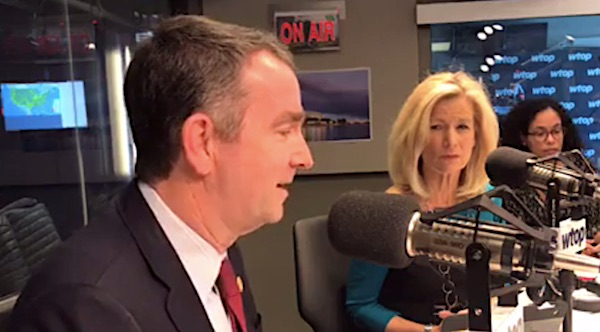 Governor Ralph Northam, D-Va., Appearing on WTOP Radio on Wednesday, January 30, 2019 (video capture)