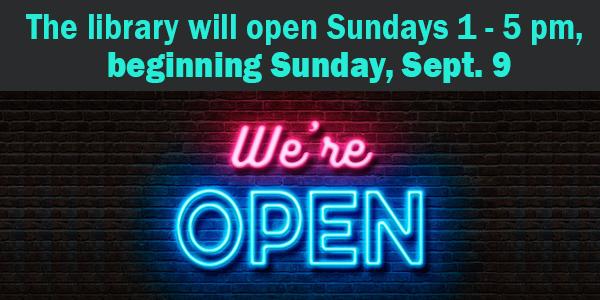 Sundays open, fall hours