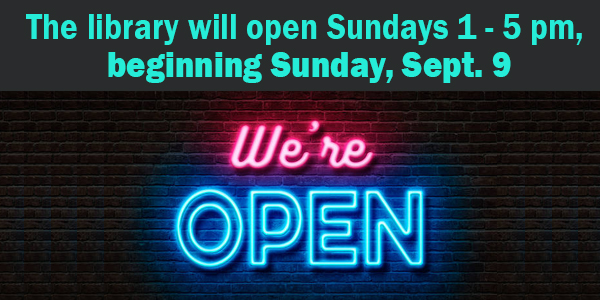Sundays open, fall hours