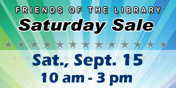 Friends of the Library, Saturday Sale, Book Sale