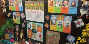 Hispanic Heritage Month, lobby display case, lobby