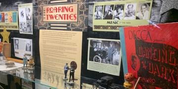 lobby display case, roaring twenties
