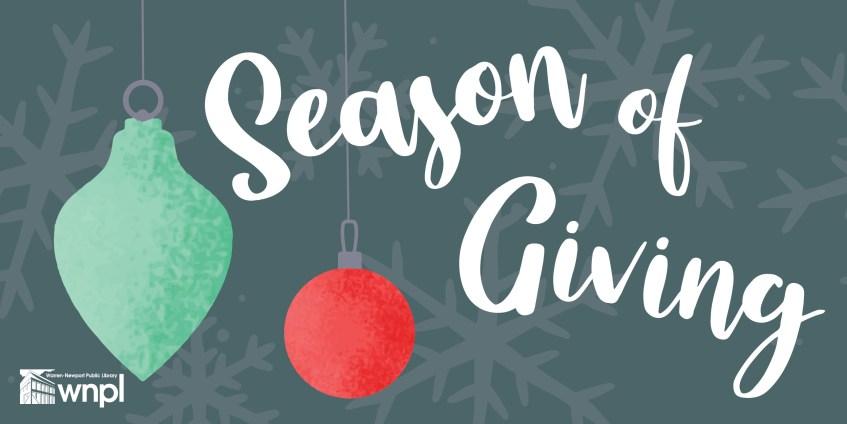 Season of Giving, ornaments, holiday, donations