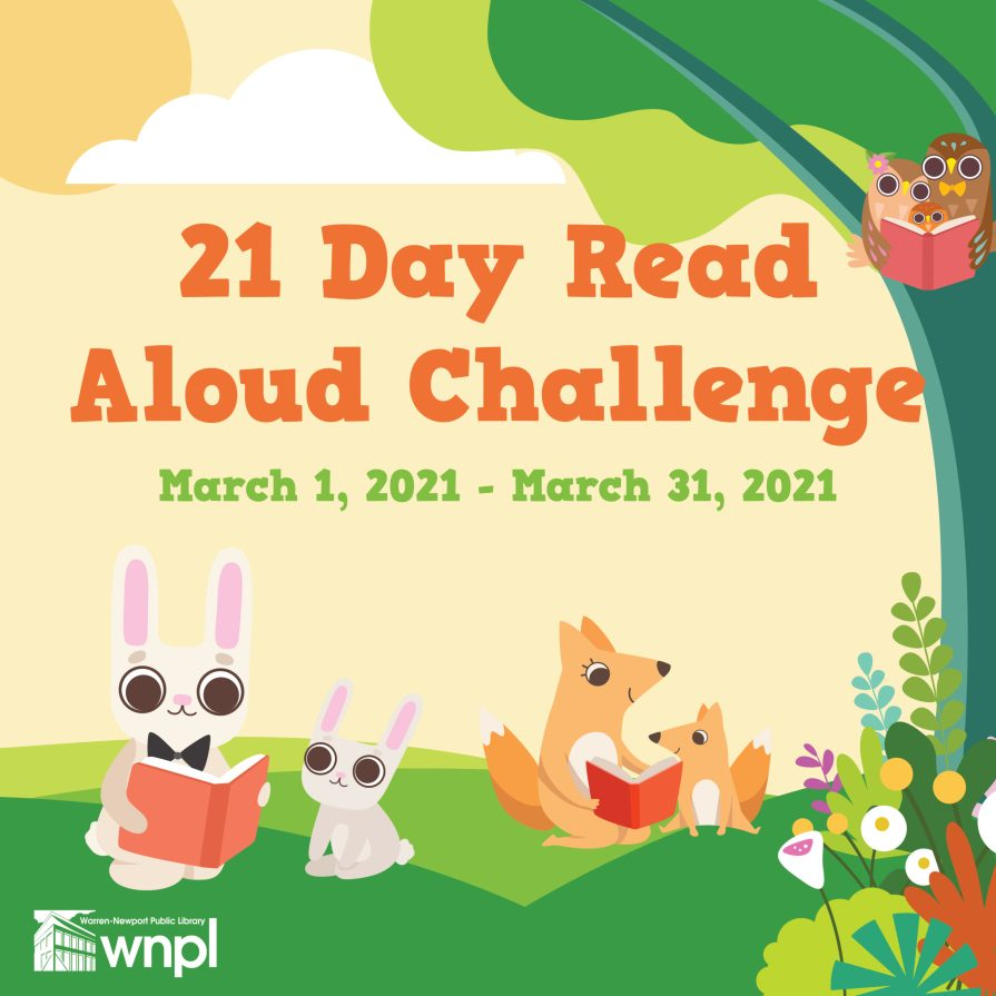 bunnies and foxes read in a meadow under a tree