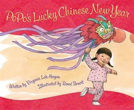 Girl flying chinese dragon kite