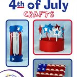 red white and blue crafts including a crown and flag