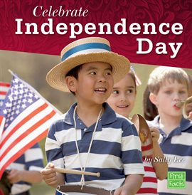 Boy in hat celebrating independence day