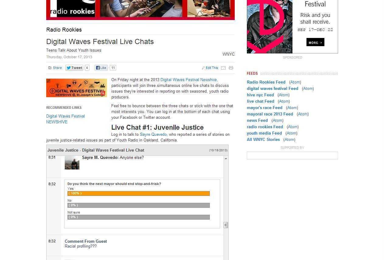NewsHive Live Chats