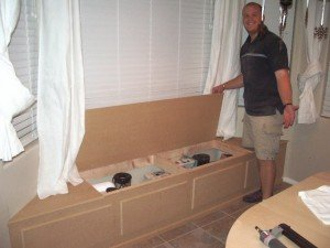 window seat plans with storage