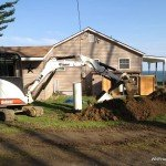 Water line digging