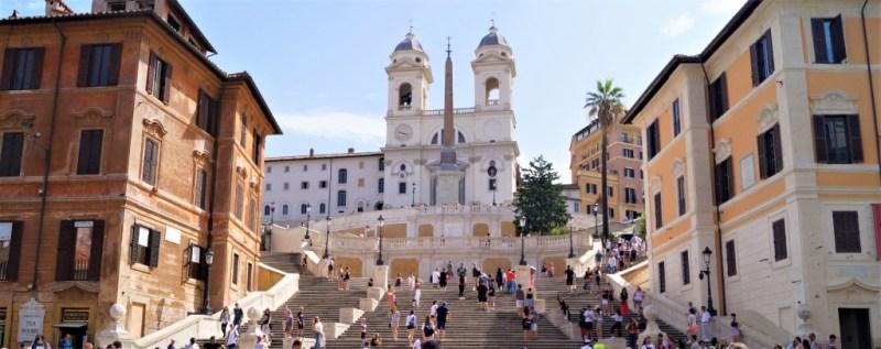 Die spanische Treppe in Rom am Piazza di Spagna