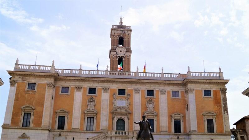 Statue von Kaiser Marc Aurel am Kapitolshügel