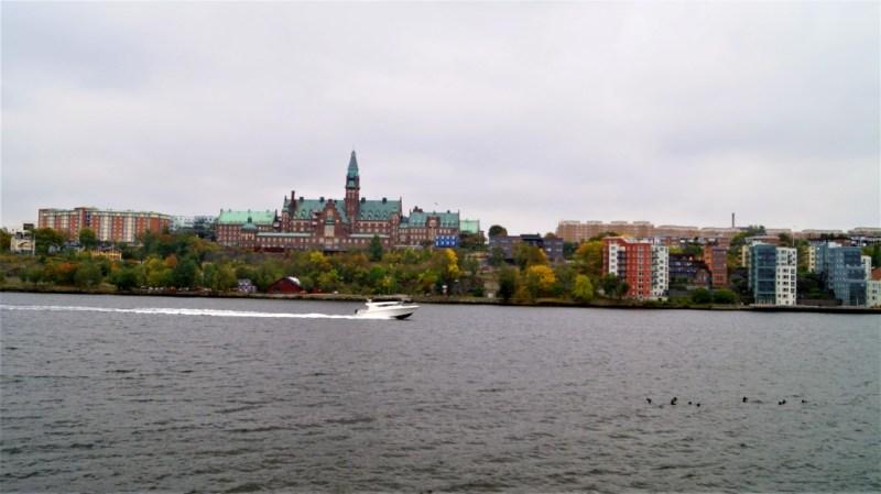 Blick vom Frisens Park auf Stockholm