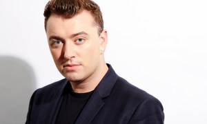 FILE - In this Sept. 17, 2014 file photo, British soul singer Sam Smith poses for a portrait, in New York. Breakthrough newcomers Smith and 5 Seconds of Summer will take the stage at the 2014 American Music Awards. Dick clark productions announced Thursday, Oct. 23, 2014, that Mary J. Blige will join the British pop crooner and Australian boy band at the at the Nov. 23 event at Nokia Theatre L.A. Live, to air live on ABC. (Photo by Dan Hallman/Invision/AP, File)
