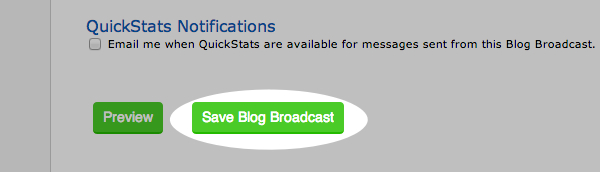 Create a Blog Broadcast step 06