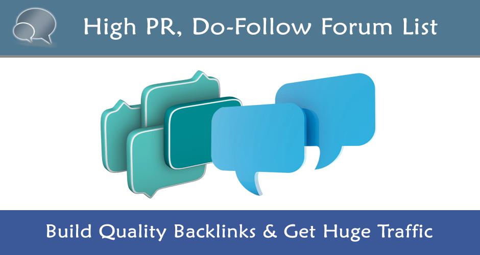 20 High PR DoFollow Forums List