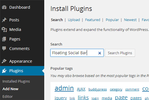 search for plugin