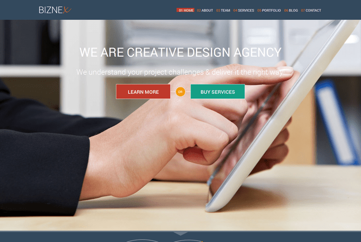 BizNex – Business WordPress Theme