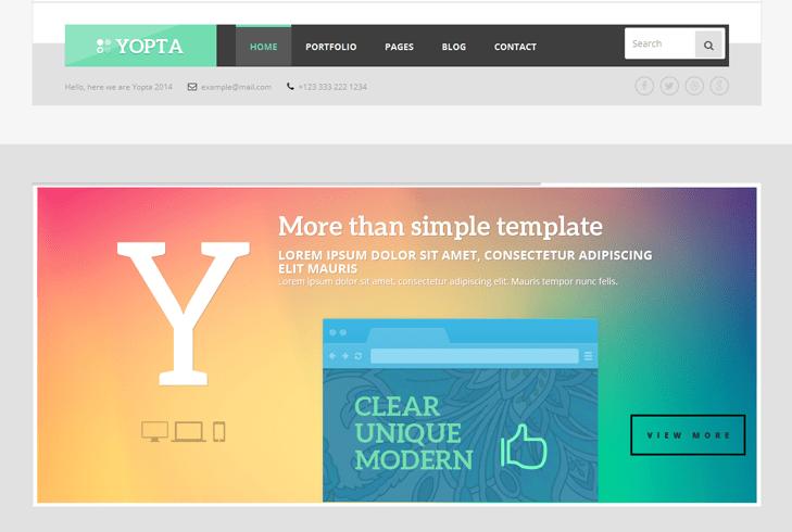 Yopta – Creative WordPress Theme