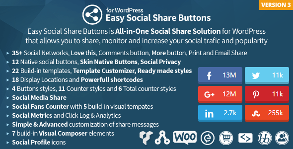 20 Best Social Media Plugins For WordPress Easy Social Share Buttons for WordPress