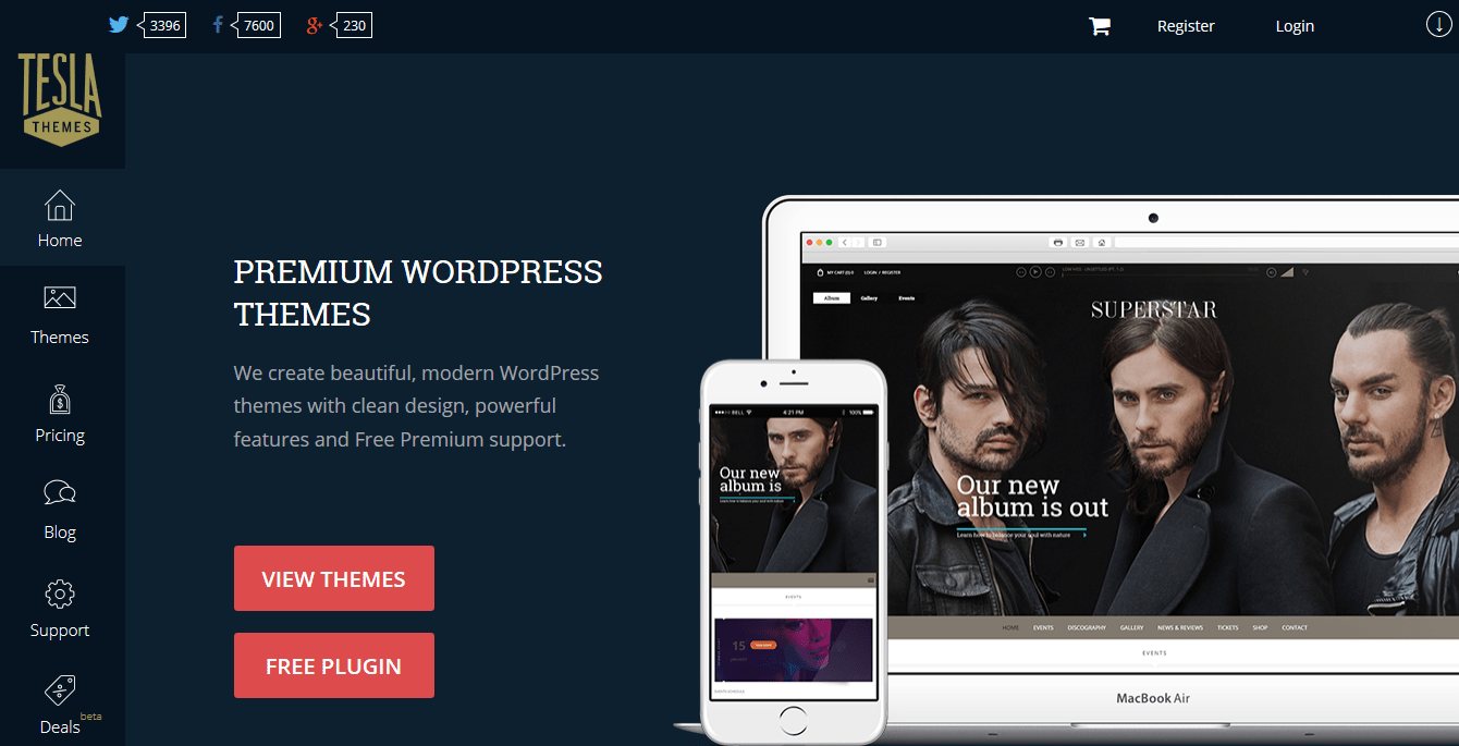 Best Premium WordPress Themes Clubs Tesla Themes