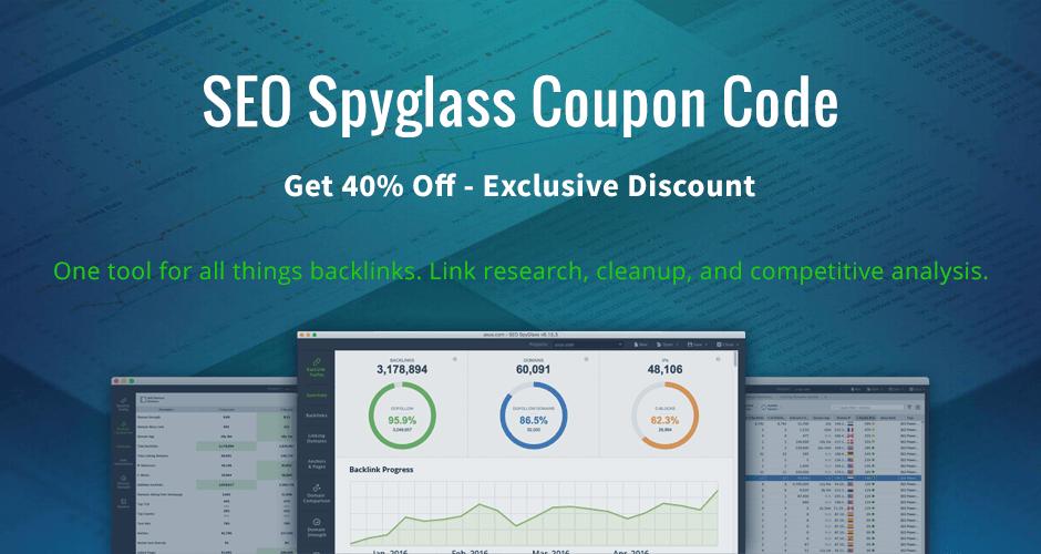 exclusive seo spyglass coupon code discount
